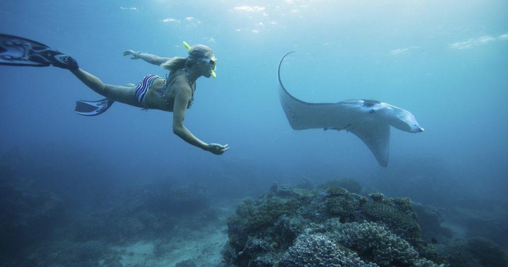Snorkeling_avec-rae manta penida Bali Indonesie