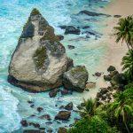 Diamond beach rock sandy beach